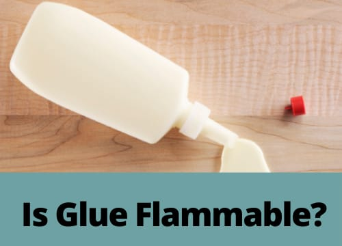 is glue flammable