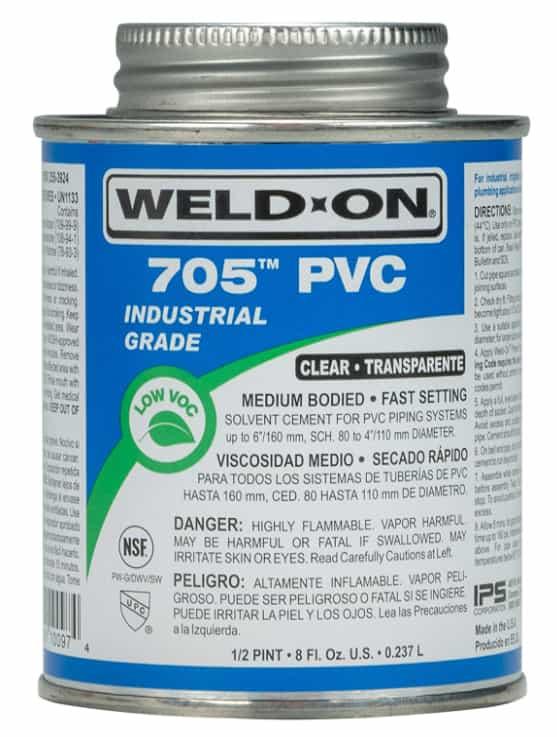 Weld on 705 PVC